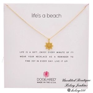 NWT - DOGEARED Life's a Beach Necklace